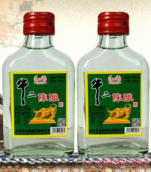 京宏福牛二陈酿酒100ml42度