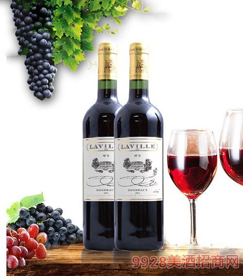 法国利威8号红葡萄酒