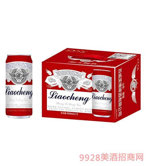 聊城百威英博啤酒红罐装500ml×12