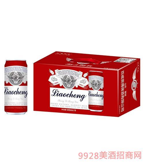 聊城百威英博啤酒红罐装500ml×18