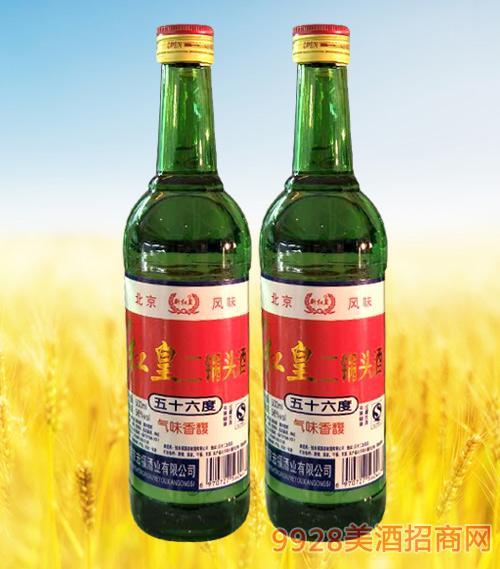 红皇二锅头酒56度500ml绿瓶