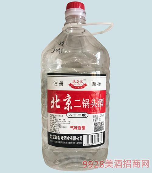 源升沠二锅头酒42度桶装5L清香型