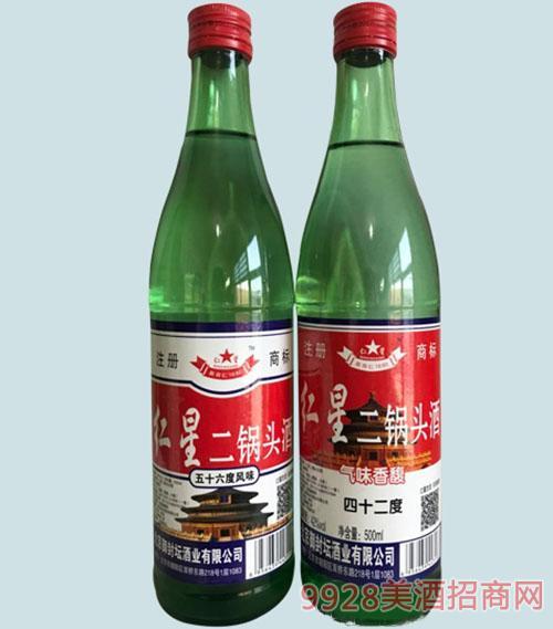 仁星二锅头酒56度绿瓶清香型
