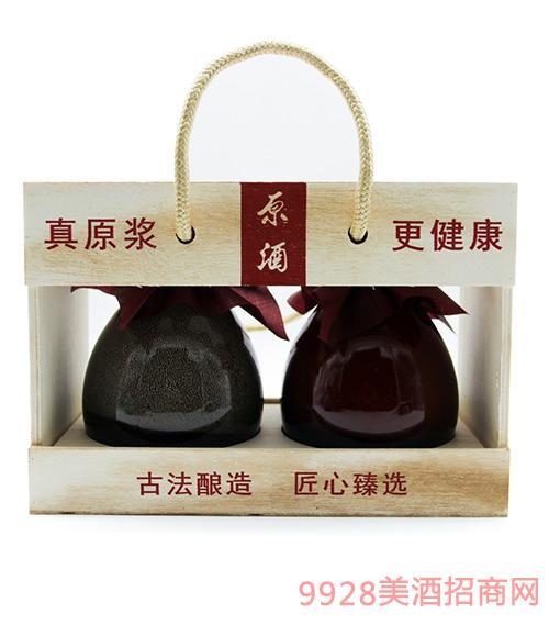 九韵神曲生态原浆酒双瓶礼盒