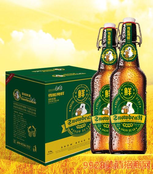 雪熊原浆鲜啤酒500ml