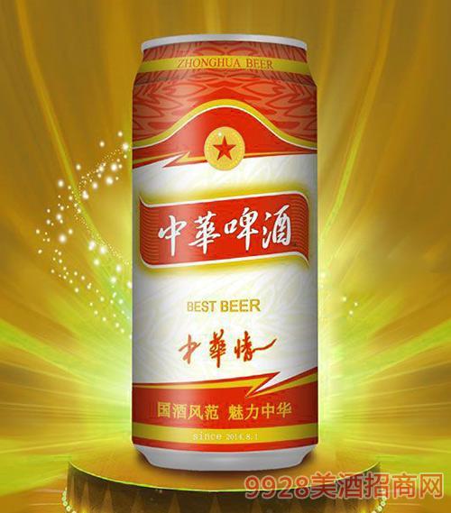 500ml中华啤酒(中华情)易拉罐