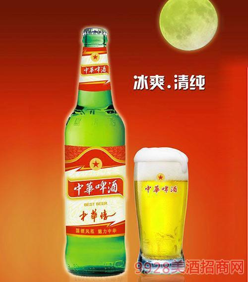 500ml中华啤酒(中华情)青瓶