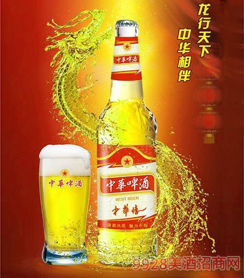 500ml中华啤酒(中华情)白瓶