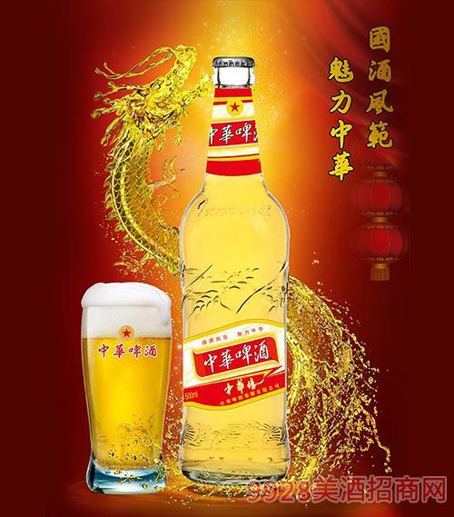 中华啤酒(中华情)异形标500ml