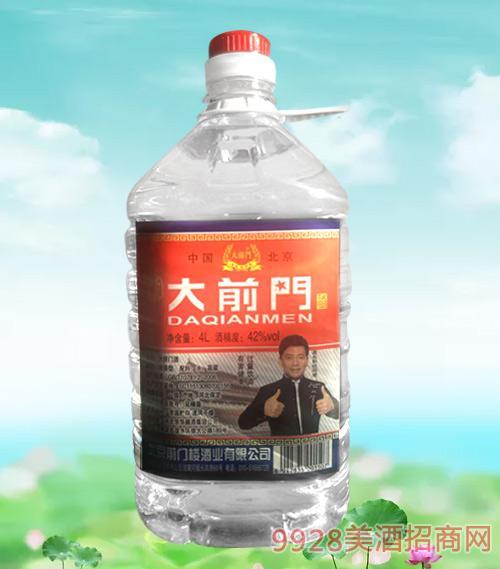 北京大前门酒桶装42度4L