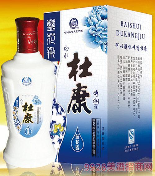 白水杜康酒蓝花瓷