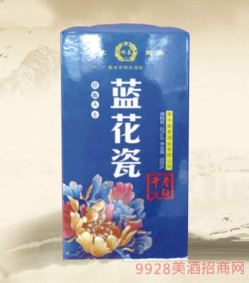 衡泰老白干酒蓝花瓷经典A6酒42度500ml
