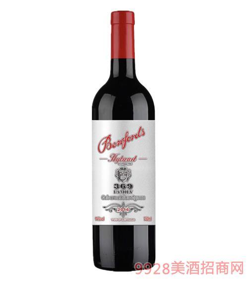 奔富海蘭酒莊家族牌369赤霞珠干紅葡萄酒14度