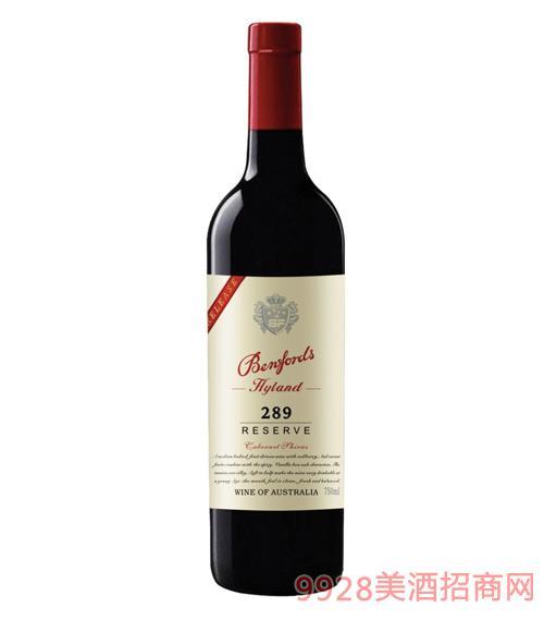 奔富海兰酒庄精选289干红葡萄酒14度