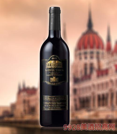 拉图维尔卡皇 家T9干红葡萄酒超级AOP