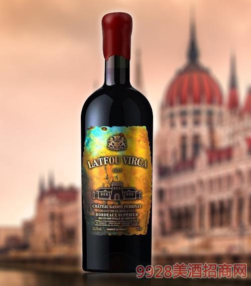 拉图维尔卡皇 家S4干红葡萄酒超级AOP