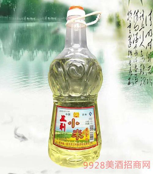 三利小米酒黄金酒4L