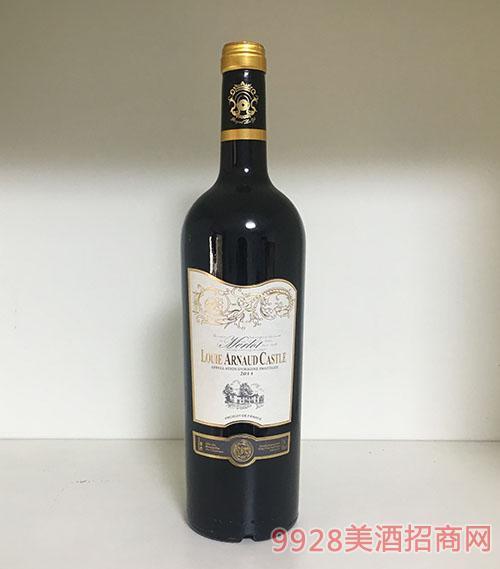 陆易艾诺安城堡美乐干红葡萄酒14度