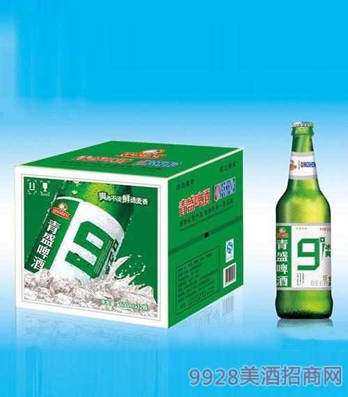 青盛9度啤酒600mlx12