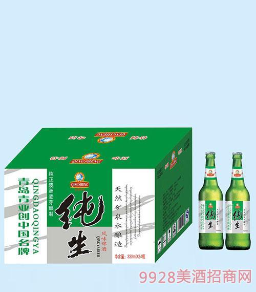 330ml风味纯生啤酒x24