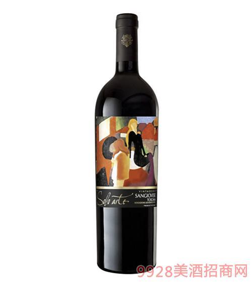 艺术红葡萄酒