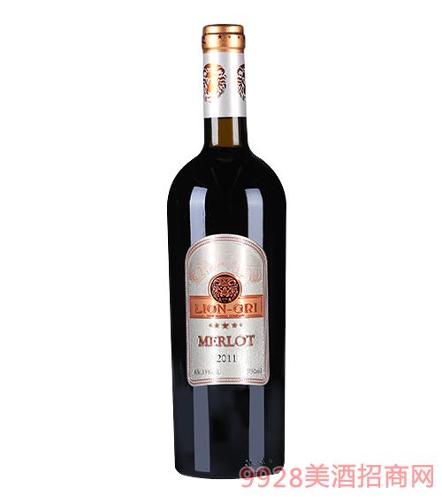 莱恩格瑞2011年梅乐干红葡萄酒13度750mlx6