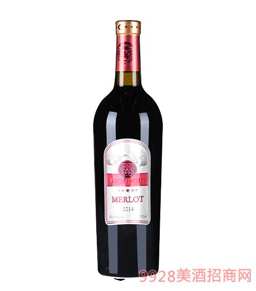 莱恩格瑞2014年梅乐干红葡萄酒13度750mlx6