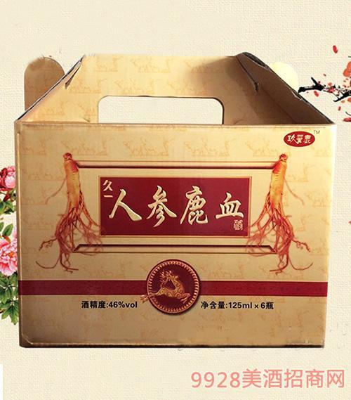 人参鹿血酒46°(盒)