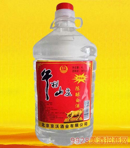 京沃午栏山庄陈酿白酒56度4L