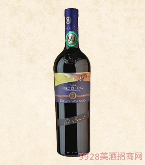 普利��黑珍珠干�t葡萄酒