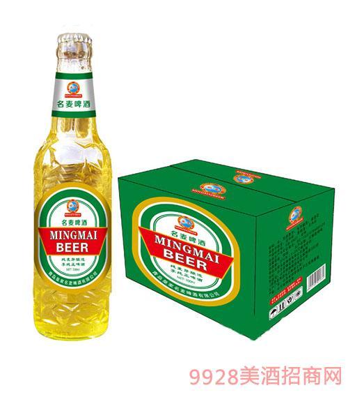 青岛名麦啤酒纯麦芽(白瓶)