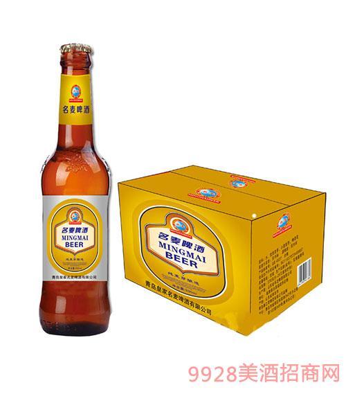 青岛名麦啤酒纯麦芽(棕瓶)