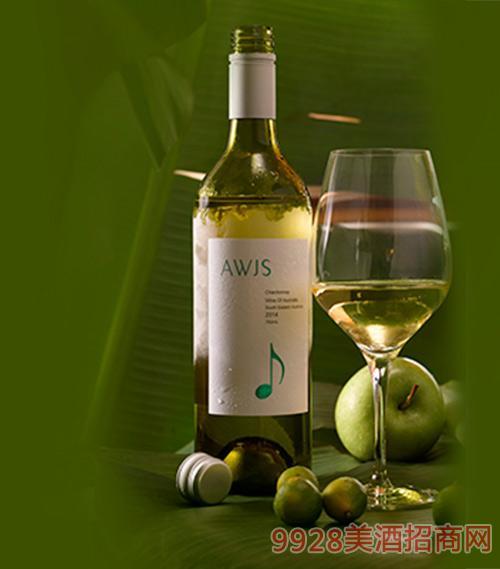 澳洲莎当妮干白葡萄酒