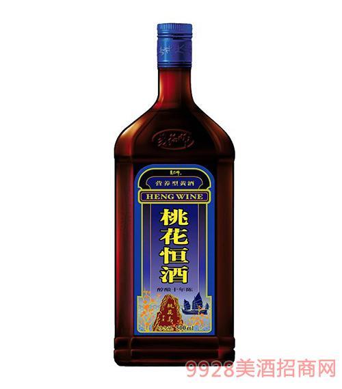 十年陈桃花恒酒(蓝冠)500ml