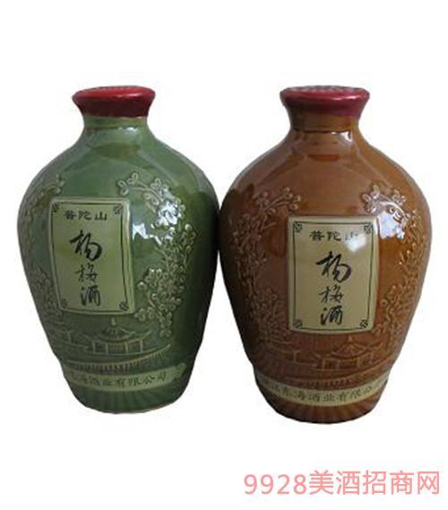 普陀山杨梅酒照(白底)1500ml瓷坛