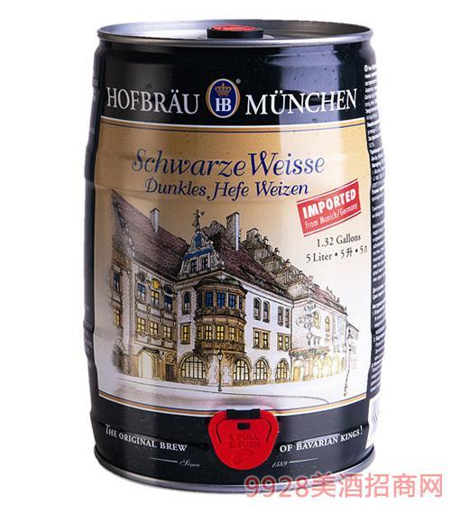德国皇 家5升小麦黑啤酒