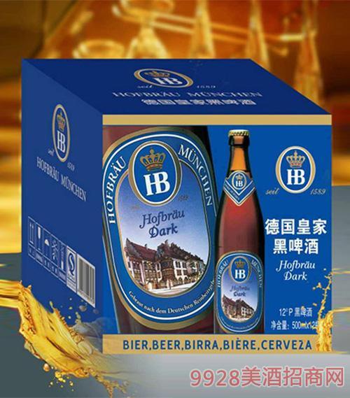 德国皇 家HB黑啤酒12°P500ml×12罐