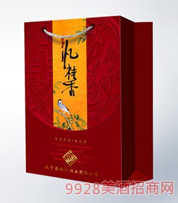 忆桂香酒花好月圆375ml双支礼盒手袋