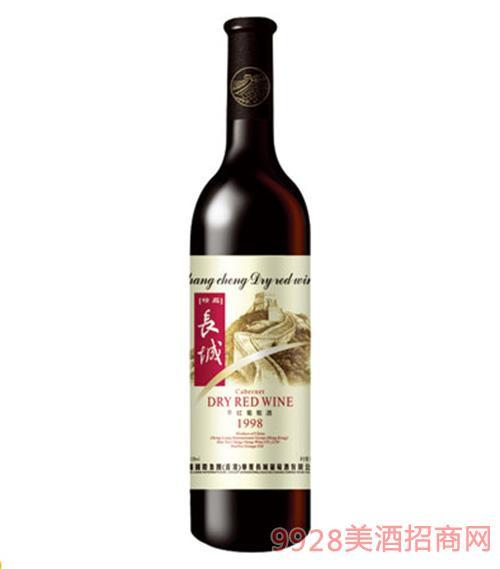 精品长城98干红葡萄酒