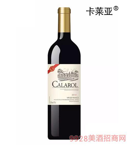 卡莱亚伯爵干红葡萄酒2014