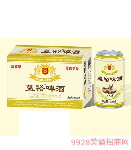 蓝裕啤酒320mlx24