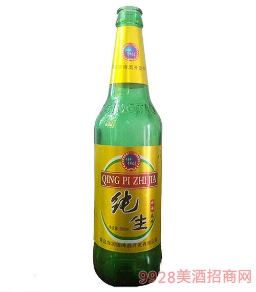 纯生啤酒风味蓝瓶8°500ml