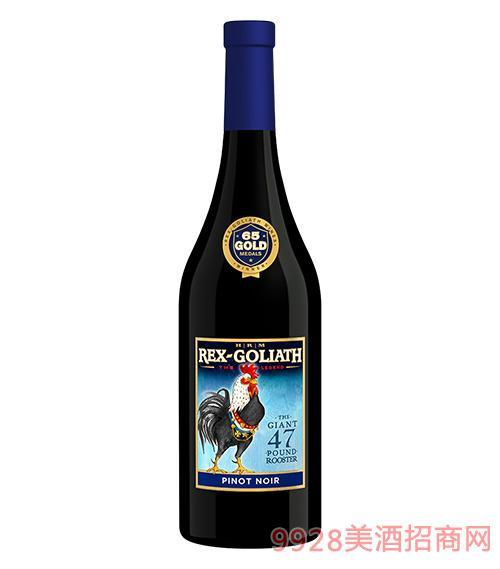 美国大公鸡黑皮诺干红葡萄酒