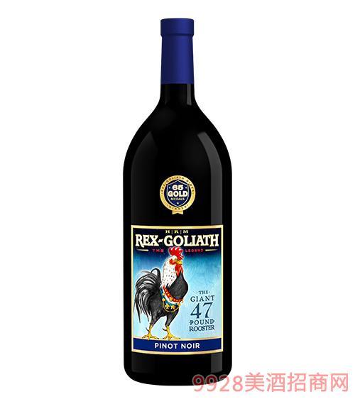 美国大公鸡黑皮诺干红葡萄酒1.5L