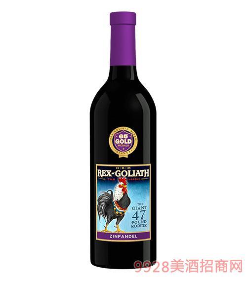 美国大公鸡仙粉黛干红葡萄酒