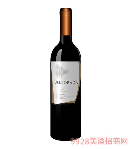 智利金柏梅洛珍藏红葡萄酒