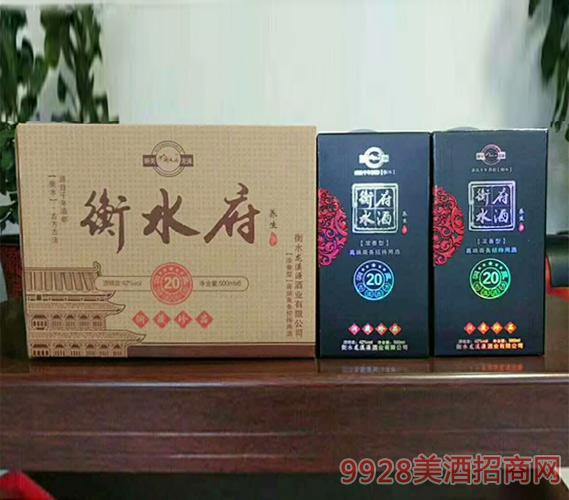 衡水府酒养生酒洞藏20高端商务招待用酒500ml×6