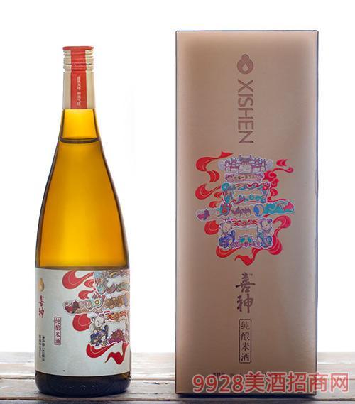喜神纯酿米酒750ml单支礼盒