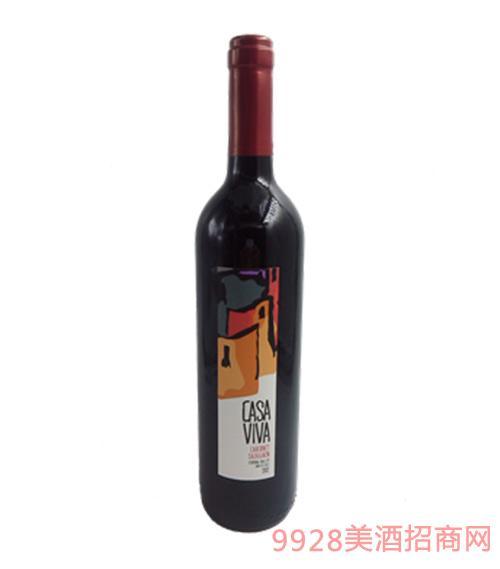 苏文尼卡萨维赤霞珠干红葡萄酒