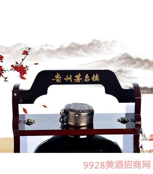 赖领经典酱香酒封坛珍藏顶部